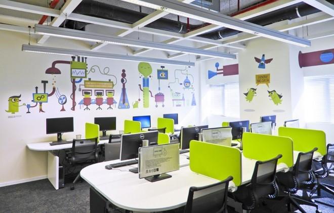 Không gian làm việc cho cảm giác thoải mái, sảng khoái về tinh thần, kích thích năng suất công việc