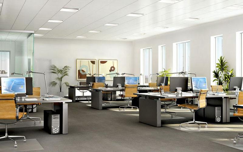 Không gian phòng làm việc giám đốc theo phong cách mở thường được thiết kế theo chủ đề