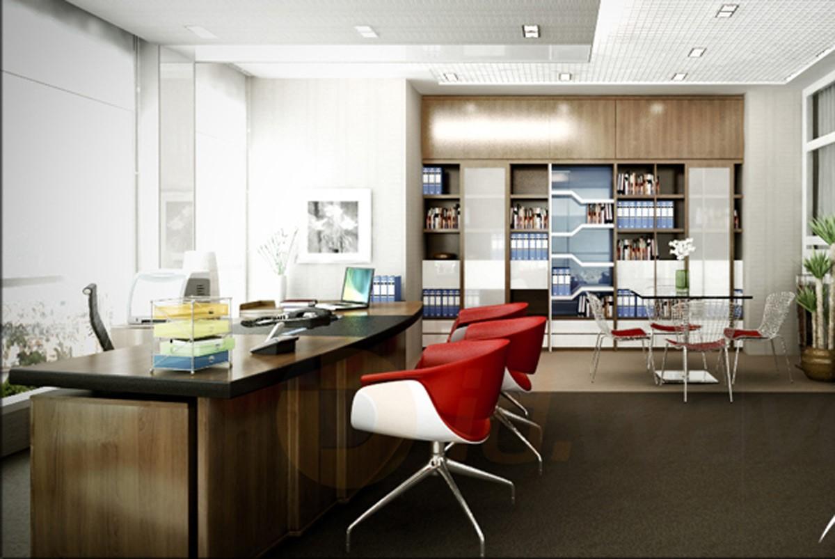 Phòng làm việc giám đốc nữ những bức tranh phong cảnh, những bình hoa, chậu cây trang trí… sẽ giúp văn phòng thêm sức sống, thêm sự tinh tế, cởi mở