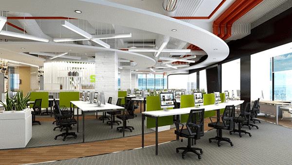 So với không gian văn phòng truyền thống bố trí nhiều phòng ban đóng kín, văn phòng không gian mở chiếm ưu thế hơn về độ thoải mái, thông thoáng