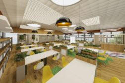 Thiết kế theo phong cách mở đang là phong cách nổi bật nhất trong trang trí nội thất văn phòng hiện nay