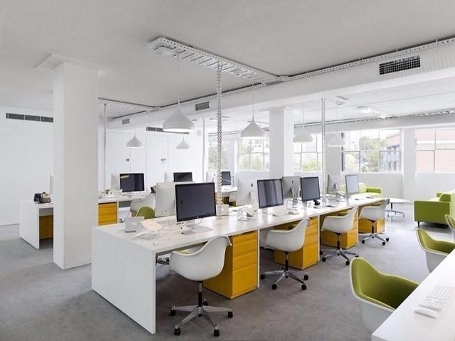 Văn phòng sẽ được bố trí thành nhiều bộ phận làm việc khác nhau để hỗ trợ tốt nhất cho sự phát triển của đơn vị