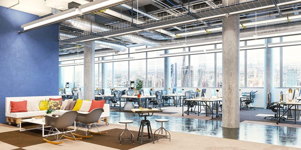 Văn phòng mở như một không gian làm việc chung giúp mọi người làm việc năng động, sáng tạo, tăng sự tương tác, dễ dàng trao đổi công việc giữa các cá nhân
