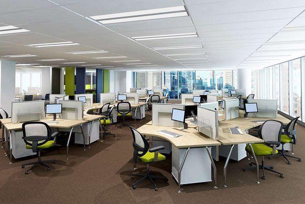Việc thiết kế nội thất văn phòng mở giúp các thành viên trong văn phòng dễ dàng tương tác và giao lưu với nhau khi làm việc